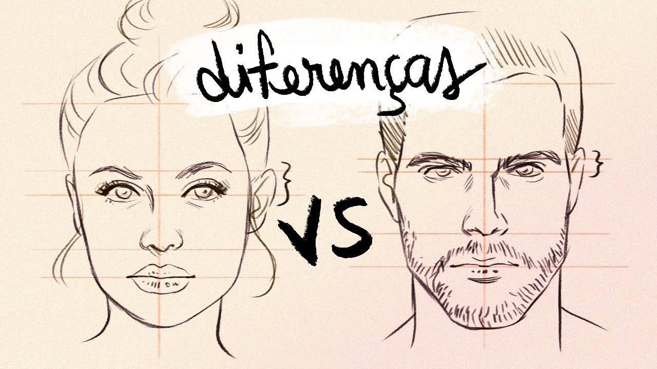 Desenhando Rosto Feminino Vs Masculino Diferencas Youtube