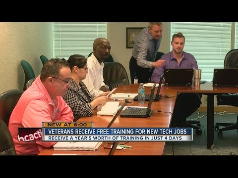 Veterans Receive Free Training For New Tech Jobs