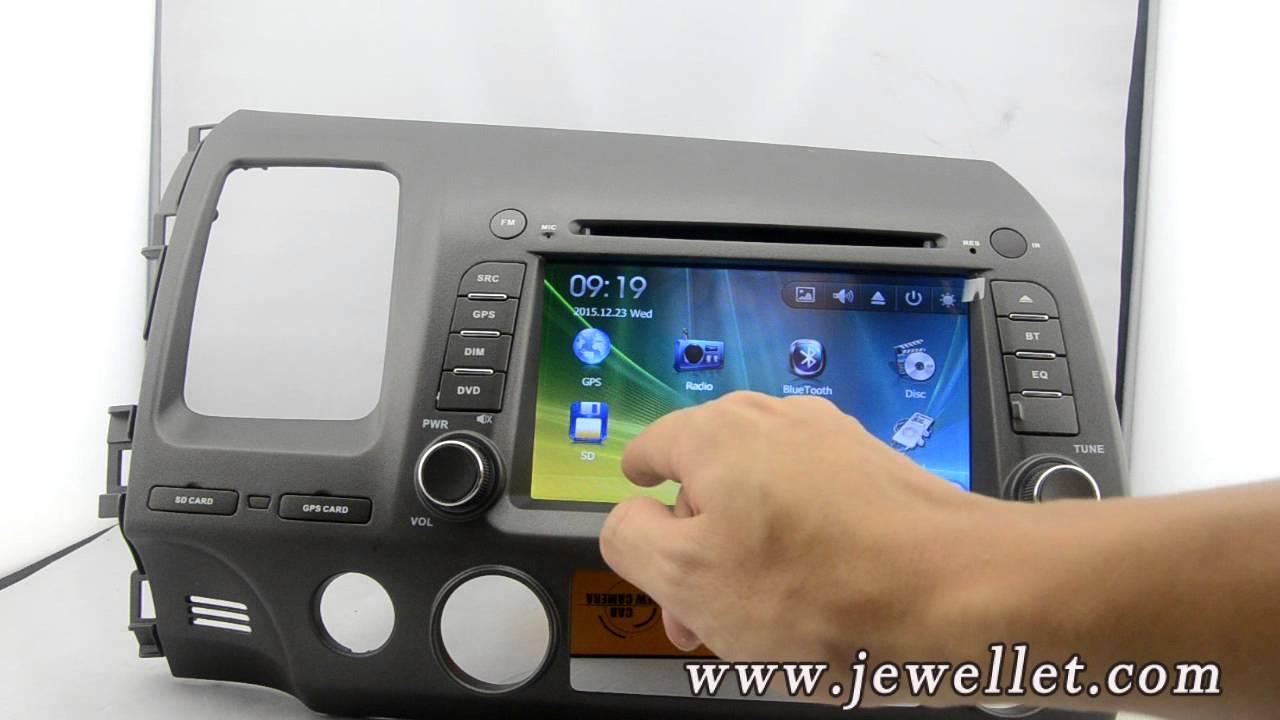 Honda Civic 2006-2011 DVD GPS Navigation with Bluetooth Ipod 1080P,
