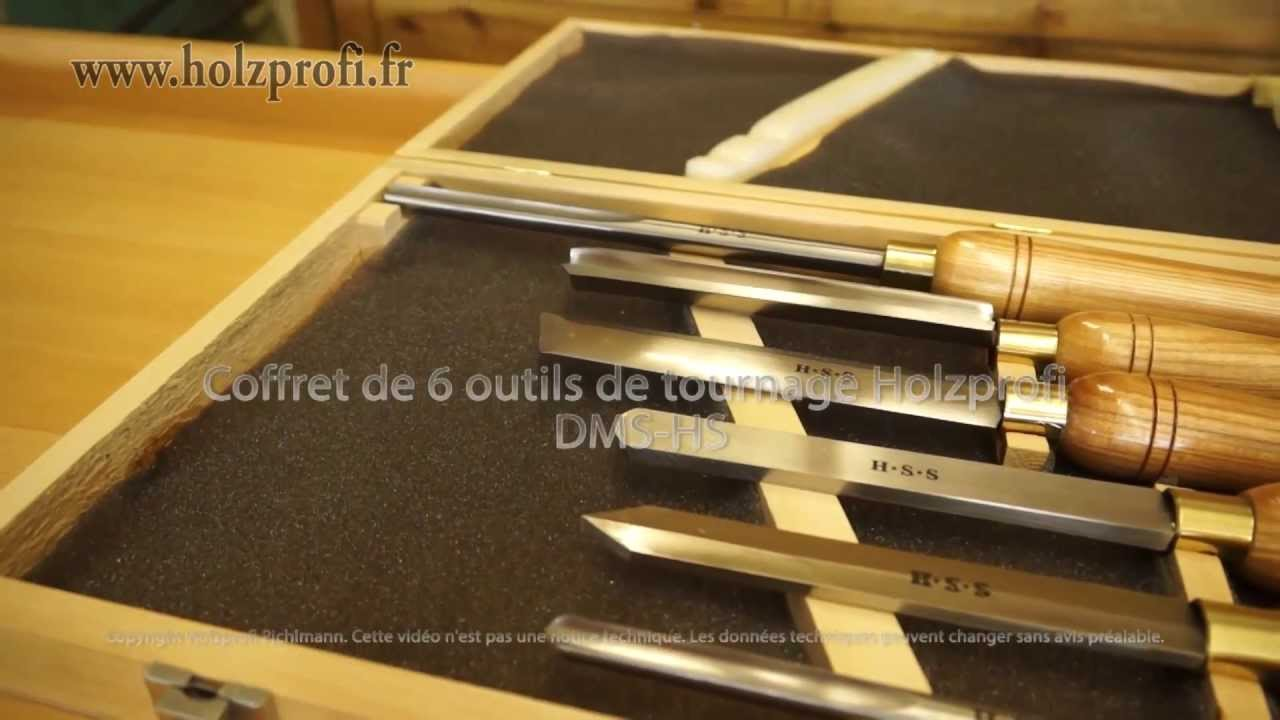 coffret de 6 outils de tournage permettant de r aliser des. Black Bedroom Furniture Sets. Home Design Ideas