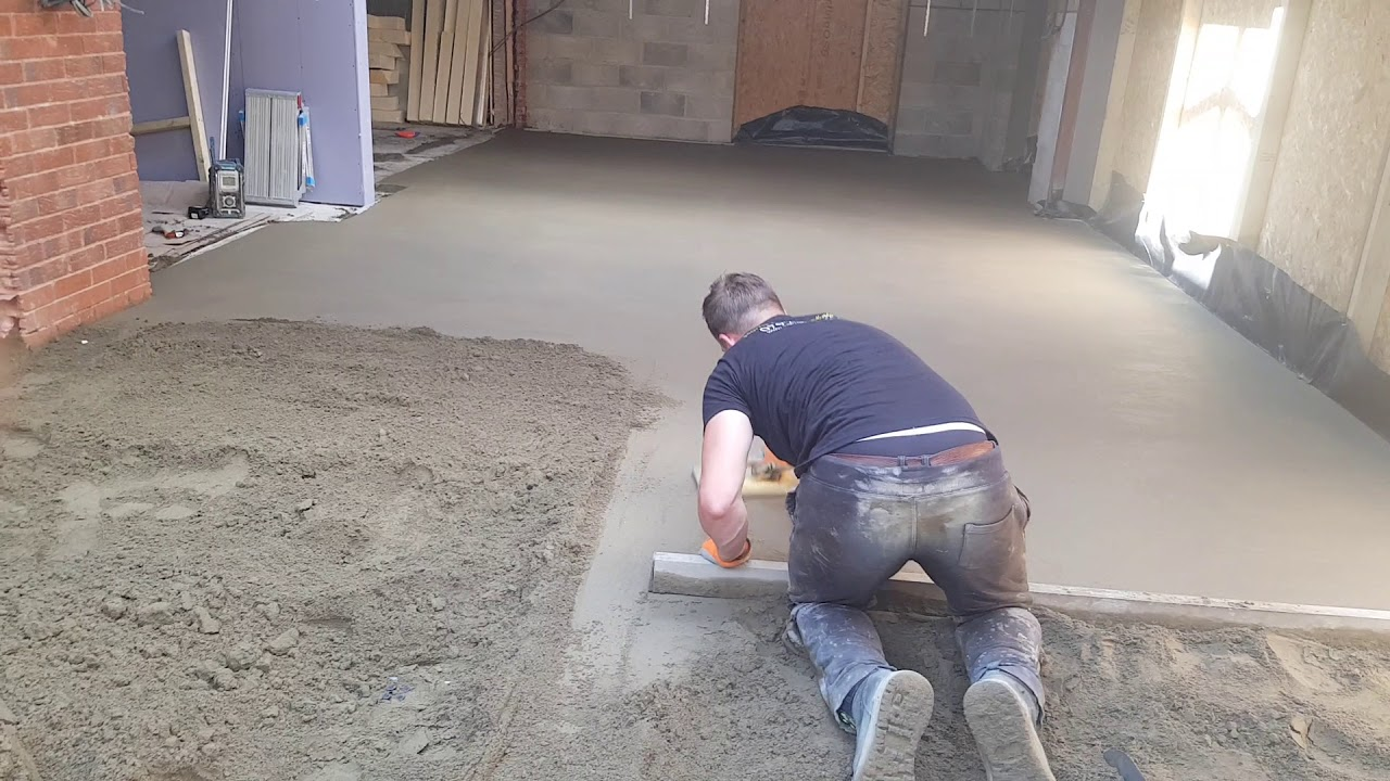 Harris Floor Screeding Limited Installing A Traditional Fibre