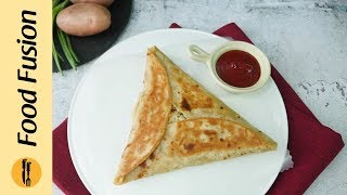 Triangle Paratha Wrap Recipe By Food Fusion