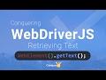 02   Retrieve text using getText in webdriver JS