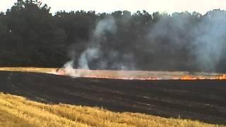 Pożar w Marysinie :) 16.08.2015
