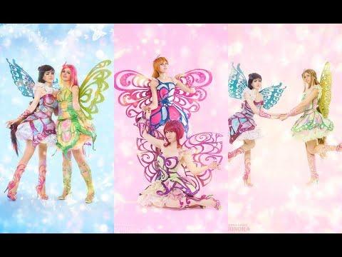 Bloom, Flora, Musa, Tecna, Roxy; Winx Club (Butterflix). Russian Cosplay