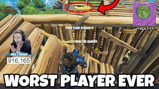 I Found the WORST Fortnite Player IN THE WORLD! (Fortnite Battle Royale EPIC FAIL)