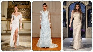Тенденции свадебных платьев с рукавами 2018