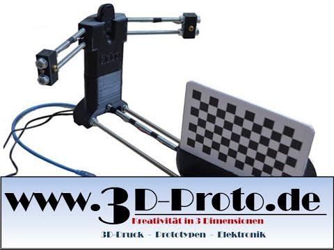 BQ Ciclop 3D Scanner Nachbau - Einstellungen und erster Scan / 3D-Proto. [Deutsch]