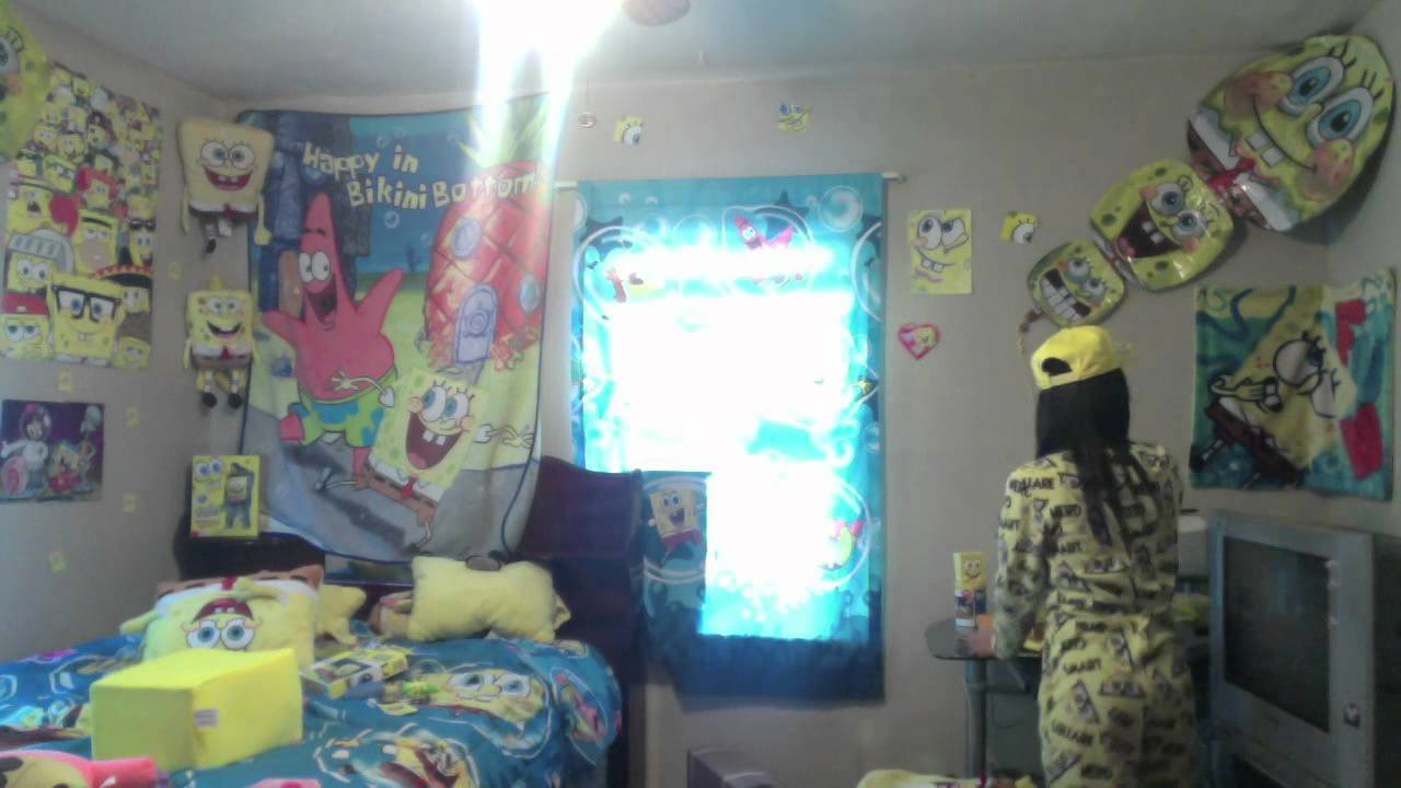 Spongebob squarepants time lapse bedroom art by david yarnell - Spongebob Room Tania