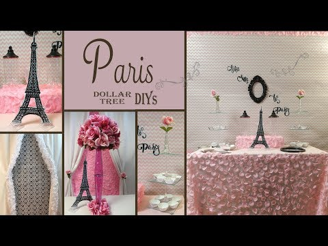 Paris Decor Ideas / Dollar Tree DIY /  Party Decor