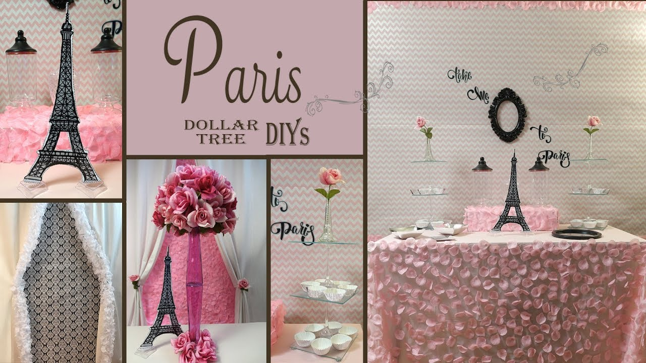 Paris Decor Ideas Dollar Tree Diy Party Decor Youtube