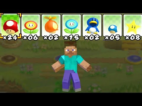Thumbnail: What happens when Minecraft Steve uses Mario's Power-Ups?