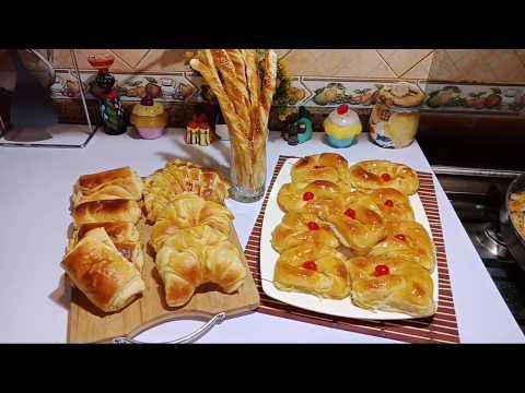 العجينة المورقة عملنا بيها الدناش والكرواسون والباتيه ،تووووووحفة  😍😍😍من مطبخي فاطمة أبو حاتي