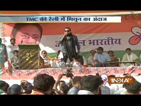 LS Polls: Mithun Chakraborty joins Mamata Banerjee during Raniganj rally