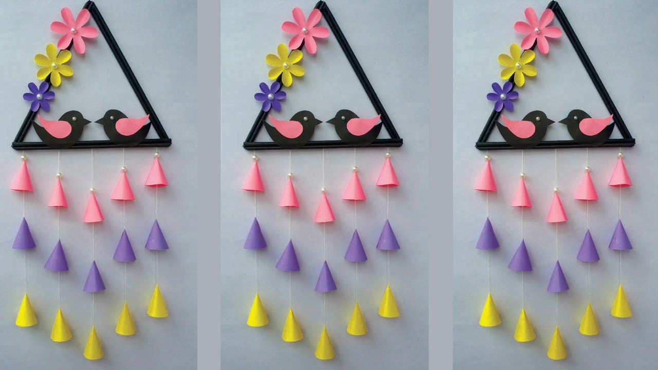DIY: Bird Wall Decor/Easy and Quick Paper Wall Hanging Ideas/Hanging/Cardboard Reuse/Room Decor Diy!
