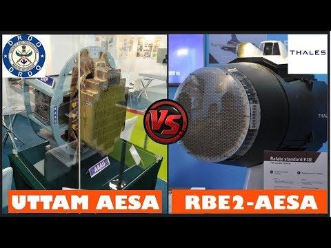 Indian Defence News:Uttam Aesa Radar vs Elta 2052 vs RBE2 Aesa Radar comparison in Hindi