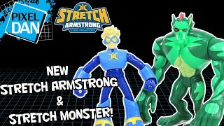 Stretch Armstrong and Stretch Monster Flex Fighters Hasbro Action Figures Video Review