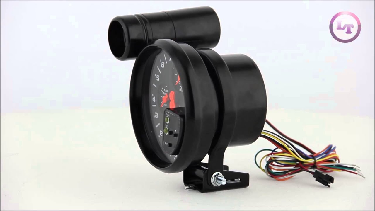 maxresdefault xtune 5 inch 4 in 1 tachometer red led youtube 4 in 1 tachometer wiring diagram at panicattacktreatment.co
