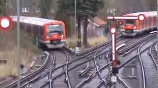 S-Bahn Hamburg: Gleichzeitiges einfahren zweier Züge in Blankenese