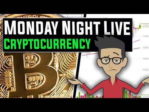 Live stream cryptocurrency ticker