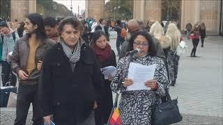 Ecuador: Internationaler Anti-Chevron Tag - Berlin, Brandenburger Tor 26.10.2018