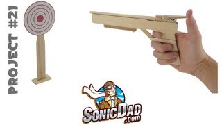 How To Make A Rubber  Band Gun Using Popsicle And Paint Stir Sticks - Sonicdad Project #21