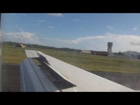 Landing in Cayenne (Rochambeau/Félix Éboué) on Surinam Airways 737-300