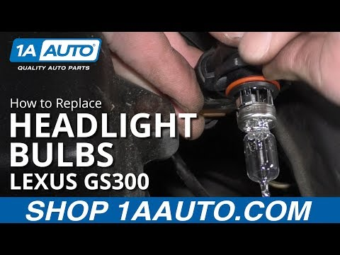How to Replace Headlight Bulbs 97-05 Lexus GS300
