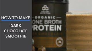 Dark Chocolate Smoothie (With Bone Broth Protein!)