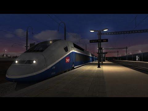 Train simulator 2017 Marseille St-charles /Avignon TGV Aller-retour de nuit
