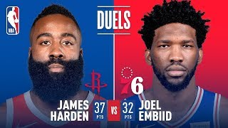 James Harden & Joel Embiid Duel in Philadelphia | January 21, 2019