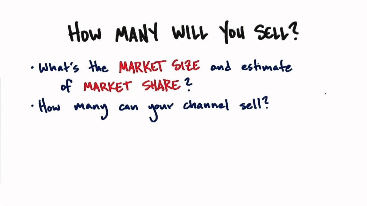 Market Size And Share - How to Build a Startup