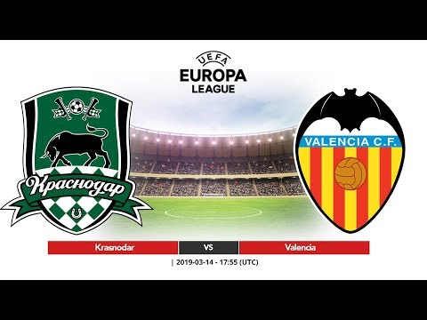 Krasnodar Vs Valencia Europa League 2019 Youtube