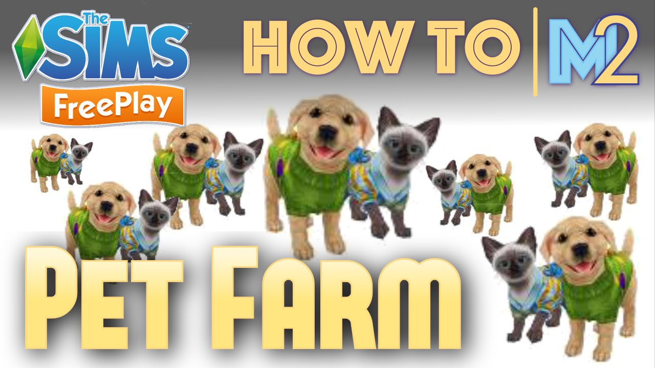 Sims Freeplay  How To Make A Pet Farm With Puppies & Kittens (tutorial &  Walkthrough)  Youtube