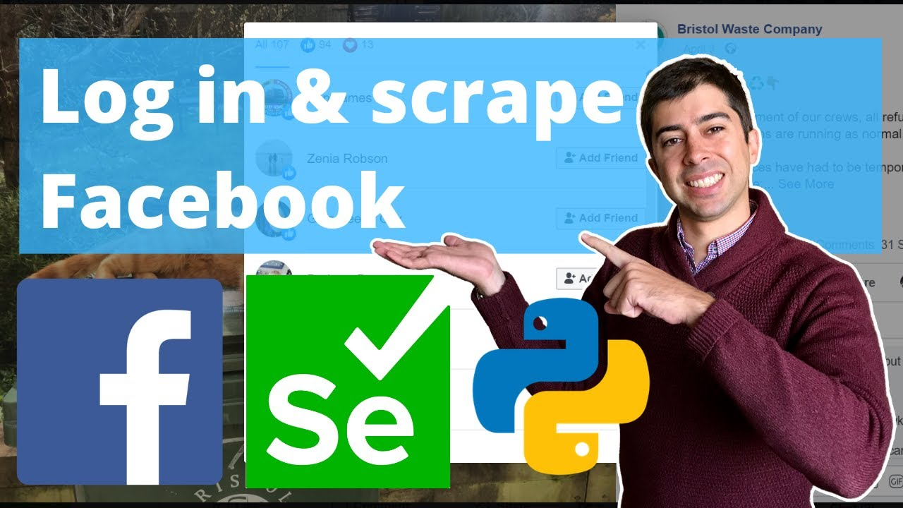 Log In and Webscrape Facebook Content using Python and Selenium | Python Tutorial | Beautifulsoup