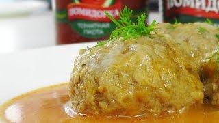 Тефтели с рисом в томатном соусе видео рецепт