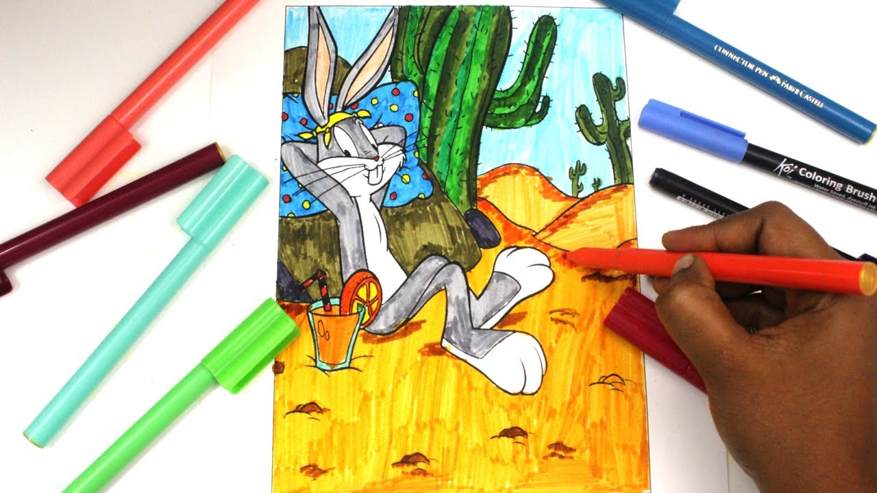 coloring looney toons bugs bunny bugs bunny coloring pages kids