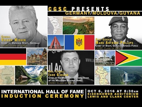 CGSC - International Hall of Fame - Oct. 6, 2016