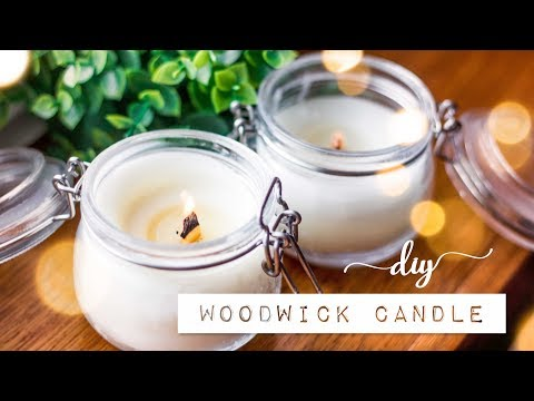 DIY Crackle Woodwick Candles with Popsicle Sticks | Gift Idea / Decor!