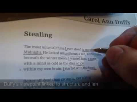Complete analysis of Stealing, by Carol Ann Duffy