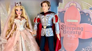 Sleeping Beauty 60th Anniversary Aurora & Phillip LE Wedding doll set Review (Disney Store)