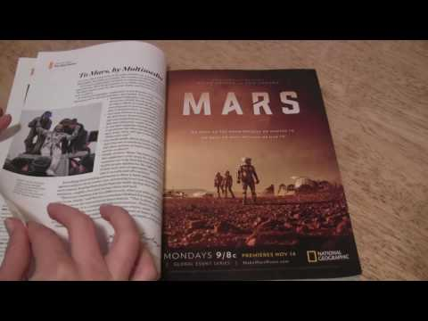 ASMR Nat Geo Whisper #2 (flipping through another National Geoghraphic issue)