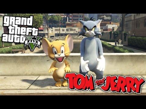 GTA 5 Mods - TOM AND JERRY MOD (GTA 5 Mods Gameplay)