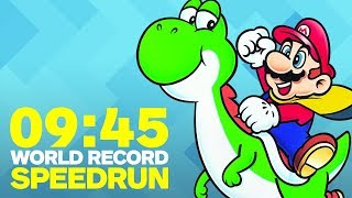 Super Mario World Finished In Under 10 Minutes (Speedrun)