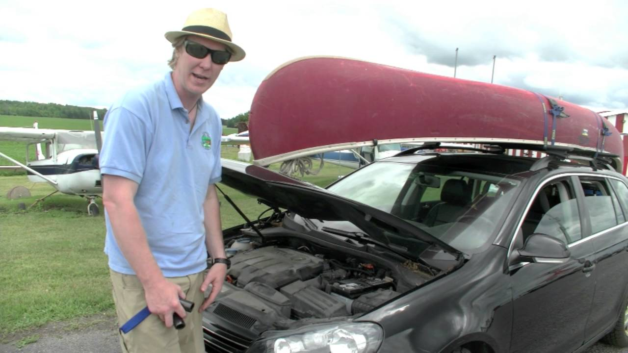 How To Tie Down A Canoe To Your Car Youtube