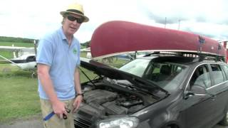 How to tie down a canoe to your car