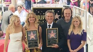 Goldie Hawn and Kurt Russell honored in a rare double star ceremony on Hollywood's Walk of Fame