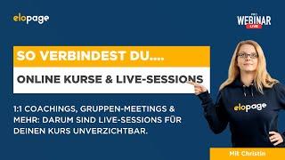 So verbindest du Online-Kurse mit Live Sessions (PRO WEBINAR)