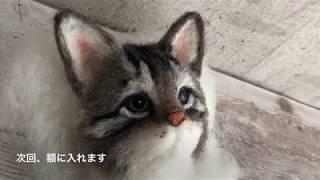 羊毛フェルトで作るキジトラ猫の作り方