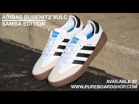 super popular 6ac4a d39ee Adidas Busenitz Vulc Samba Edition Skate Shoe Review